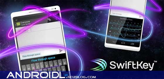 کیبورد حرفه ای با SwiftKey Keyboard 4.0.0.106